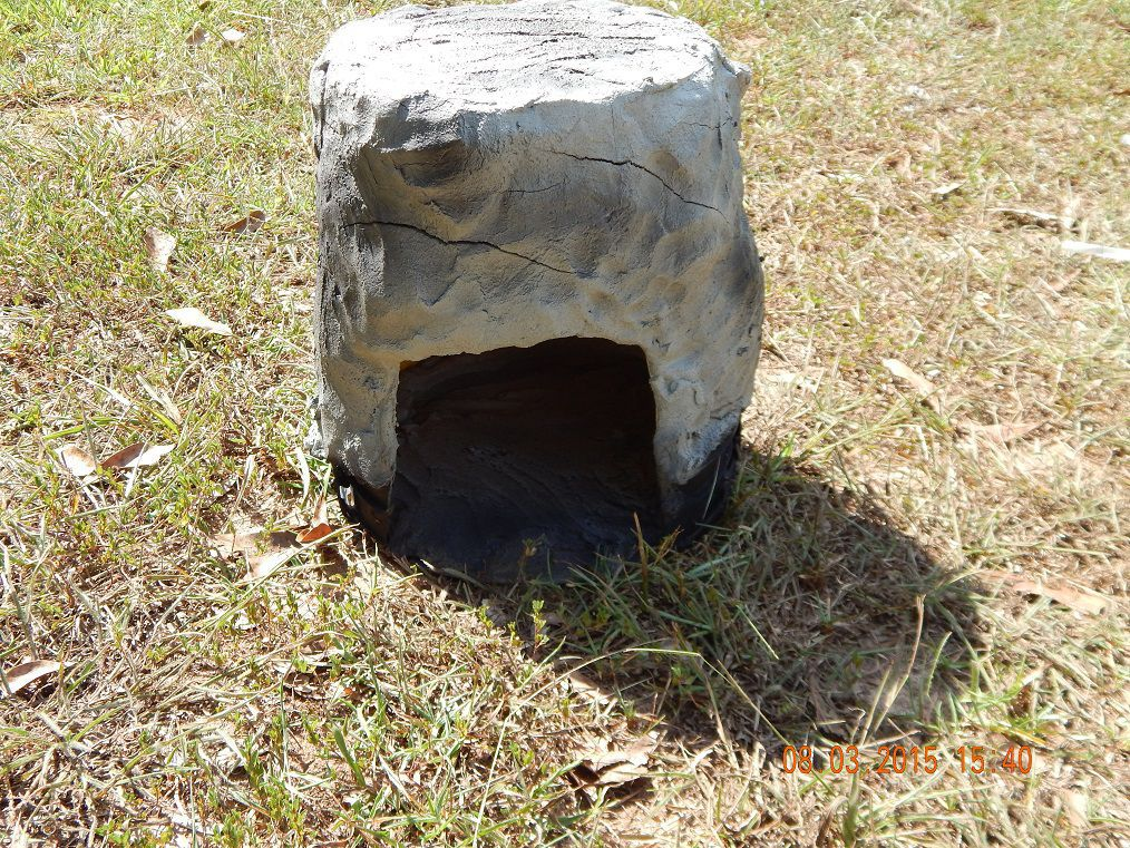 Cave hiding place optional rock island combo for for Koi pond hiding places