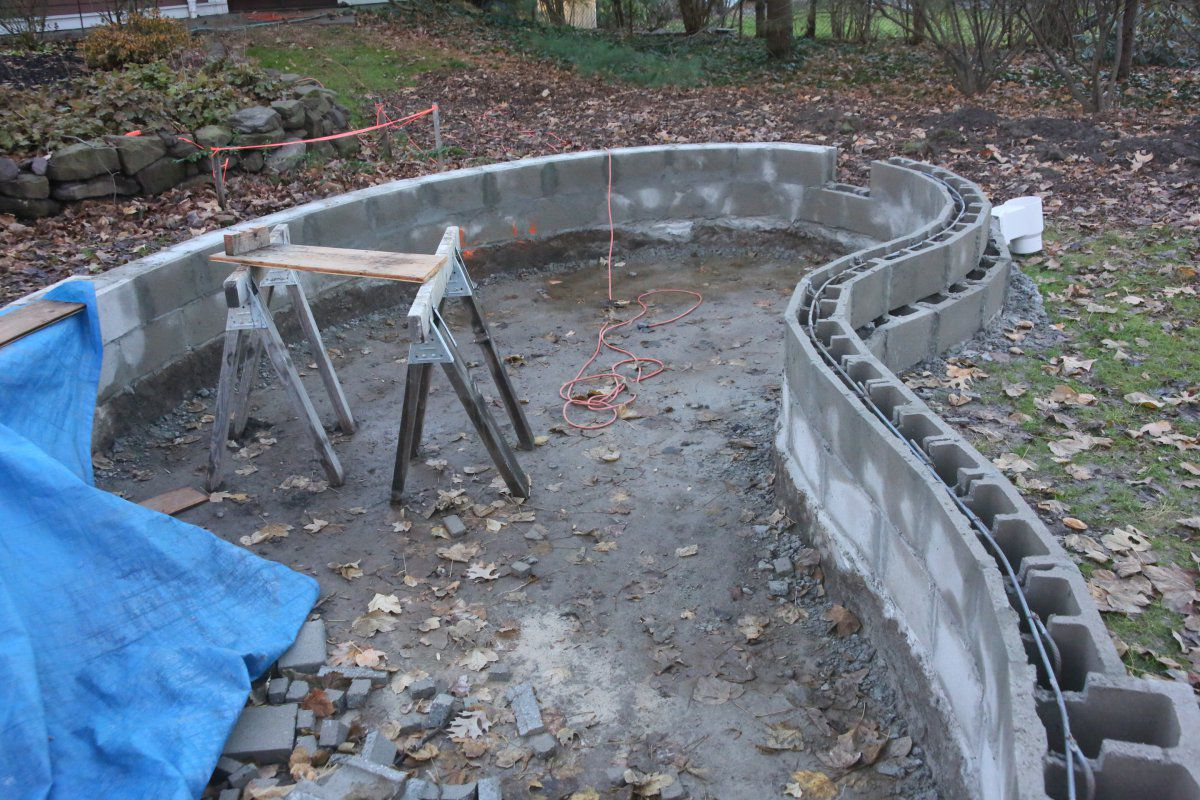Bogging in new jersey garden pond forums for Building a concrete pond