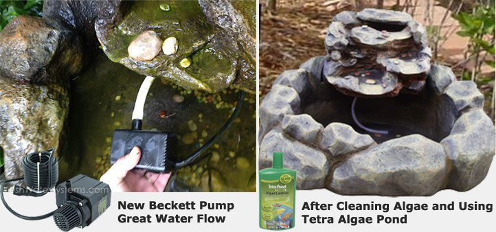 Pumps And Algae Control For Garden Treasures Fountains Pond