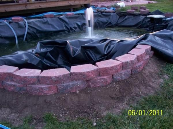 Outside Bog Wall Liner Laying In It Long Enough To Go